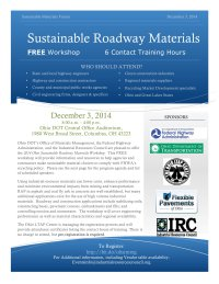 2014 Ohio Sustainable Roadway Materials workshop