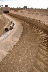 Photo of equipment compacting soil