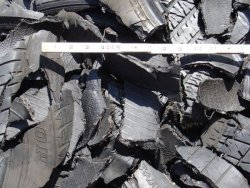 Photo of shreadded tires